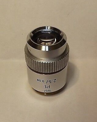Leitz Pl 2.5x Plan Microscope Objective 160- Lens Macro Photography 160mm