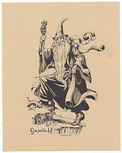 Lord-of-the-Rings-J-R-R-Tolkien-Vintage-Rare-Prints-set-8-Different-C-S-Millan