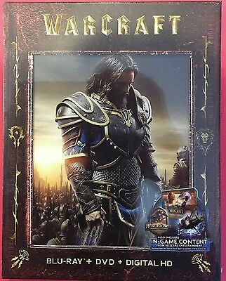 Warcraft  Blu Ray   Dvd   Digital Hd   8 Collectible Character Cards