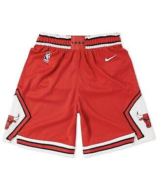 NIKE NBA CHICAGO BULLS SWINGMAN ROAD BASKETBALL SHORTS SIZE LARGE 866789-657.