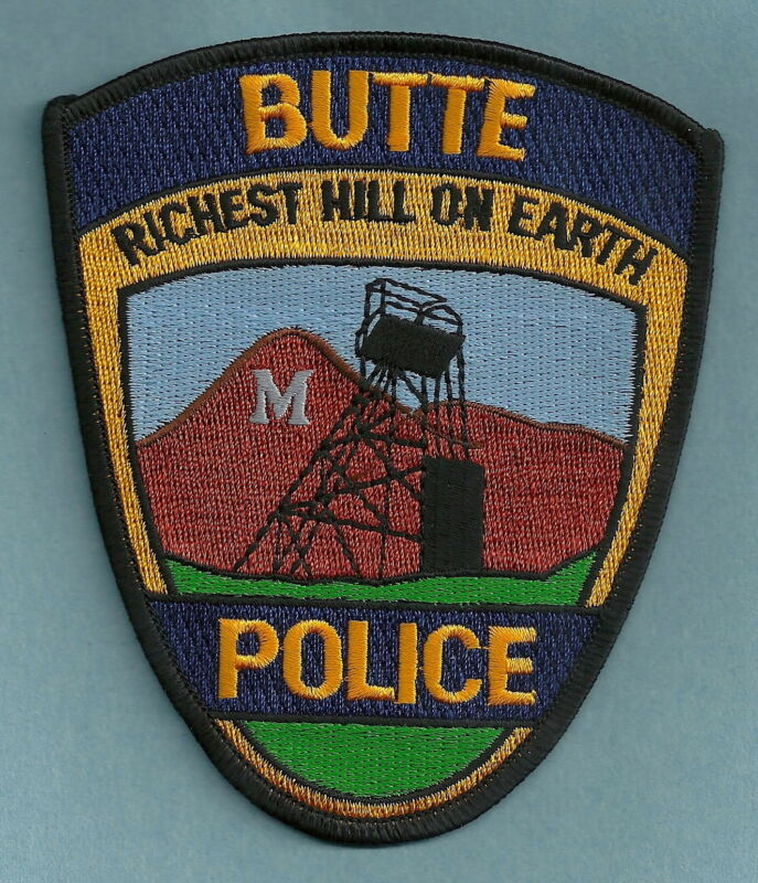 BUTTE MONTANA POLICE SHOULDER PATCH