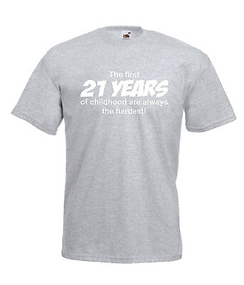21st BIRTHDAY funny party present gift ideas fashion top tee mens womens T SHIRT
