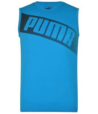 Men's New Puma Vest Tank Top Sleeveless T-Shirt Singlet - Gym Fitness Training