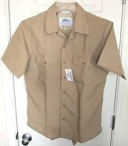 USN-US-Navy-Quarterdeck-Uniform-Khaki-Dress-ShortSleeve-Uniform-Shirt ...
