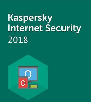 Kaspersky Internet Security 2018, 1 Year, 1 Windows PC Global*!!