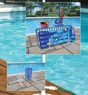 Hydro Tools 8903 Swimming Pool Side Organizer For Towels, Rafts & - Pool Organizer