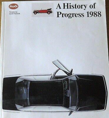 Audi; A History of Progress 1998, book