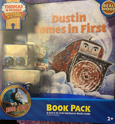 New Wood Thomas The Train Friends Sodor Story Book Pack Dustin Comes in First 2+