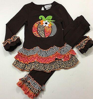 Emily Rose NWT Size 2T 3T 4 5 Boutique Thanksgiving Pumpkin Halloween - Pumpkin Outfit Halloween