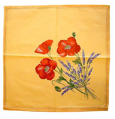 French Provence 100% Cotton Set of 4 Napkins - Poppy Yellow