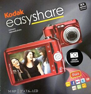 KODAK-EasyShare-14MP-C1530-Digital-Camera-3X-Optical-Zoom-3-LCD-Video-BLACK-NEW