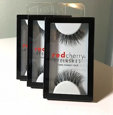 (3 Pairs) Red Cherry Lashes #43 Stevi False Eyelashes Human Hair
