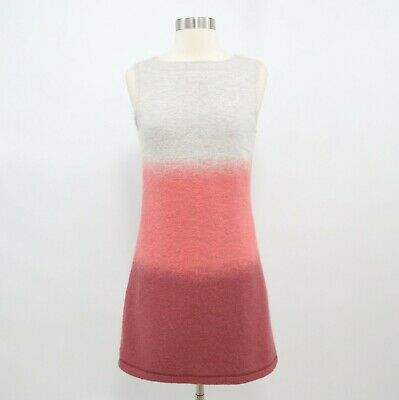 Hoss Intropia A-Line Dress Wool Womens XS Color Block Gray Pink Red Sleeveless