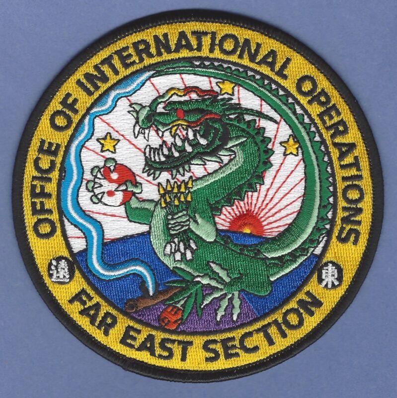 DEA DRUG ENFORCEMENT ADMINISTRATION FAR EAST ASIA SECTION SHOULDER PATCH