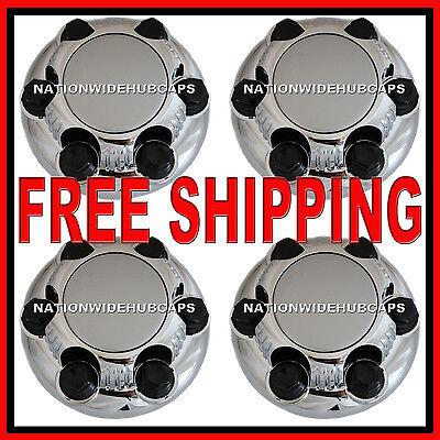 Set Of 4 Chevy Gmc 6 Lug 16 & 17 Chrome Wheel Rim Center Hub Caps Nut Covers S