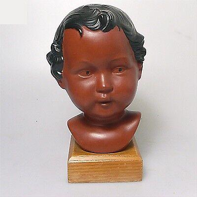 Alte Jungmädchen Büste 1960 gemarkt Terracotta ca.18 x 10 cm
