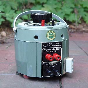 Ringkern-Stell-Transformator / Regel-Trafo, 115 auf 0 ... 135 Volt, 4A, NOS