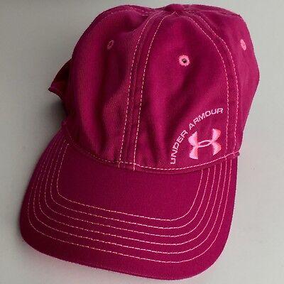 Gear Womens Cap - Under Armour Pink Womens Baseball Cap Adjustable Heat Gear Free Shipping