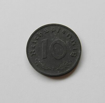 DRITTES REICH: 10 Reichspfennig 1943 F J. 371, stempelglanz,   I.