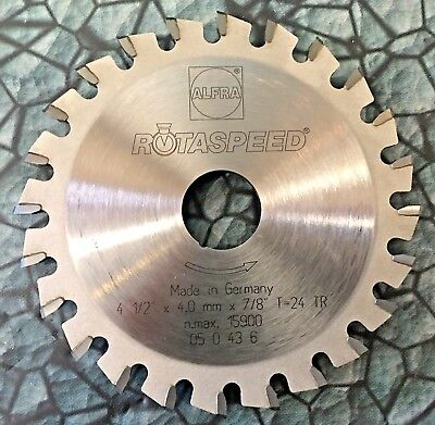 4-12 Rotaspeed Dry Metal Cutting Saw Grinder Blade 24t Carbide Stainless 4.5