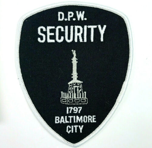 Baltimore DPW Department of Public Works Security Maryland Patch
