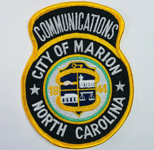 Communications Marion McDowell County North Carolina NC Police Fire EMS Patch A1