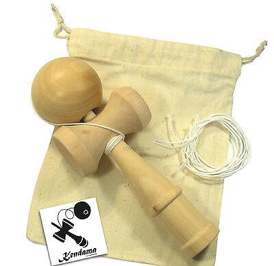 Kendama + Set für Beginner mit Fanaufkleber, Ersatzschnüre, Aufbewahrungsbeutel