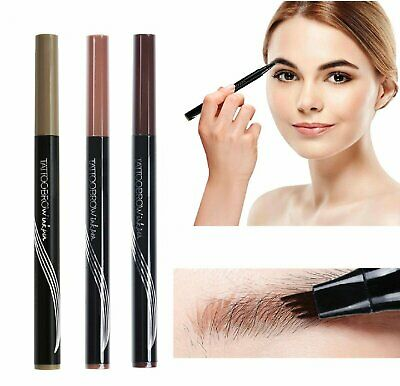Microblading Tattoo Eyebrow Ink Pen Long Lasting Eye Brow 3D Fork Makeup Pencil Eyebrow Liner & Definition