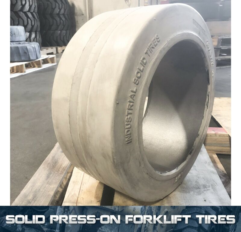 22x12x16 Duramax IST Smooth White Solid Press On Forklift Tire 22x12-16 (1 Tire)
