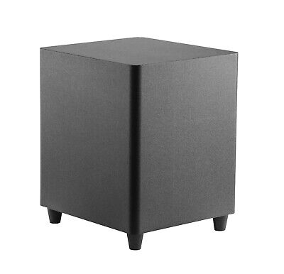 """TDX 10-Inch Down Firing Powered Subwoofer Home Theater Surround Sound Black 10"""""""