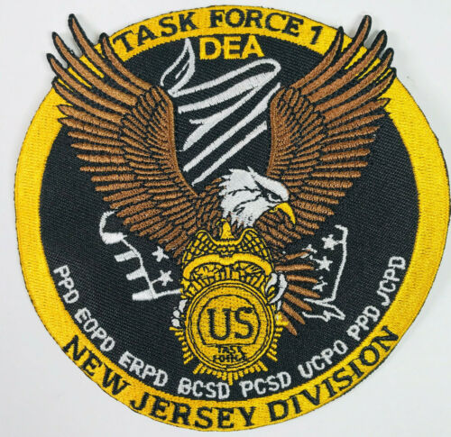 US Task Force 1 Police Sheriff New Jersey NJ Narcotics Drugs Division Patch (B4)