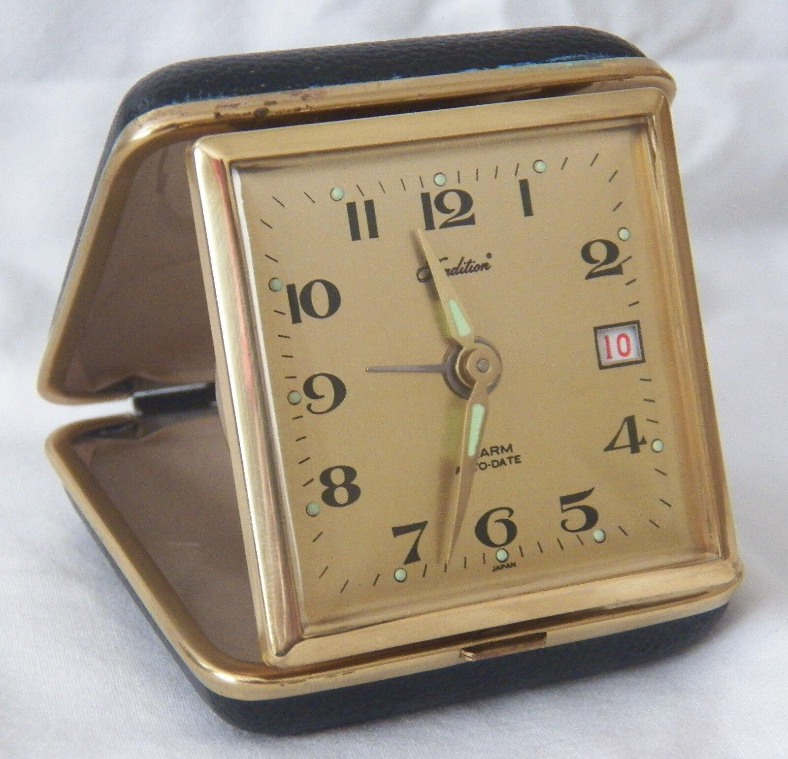Unique Vintage Tradition Alarm Auto Date Glow Travel