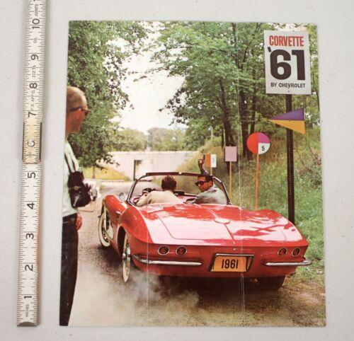 Vintage 1961 Corvette Dealer Sales Brochure Marketing Car Catalog