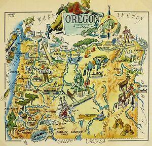 Oregon Map | eBay