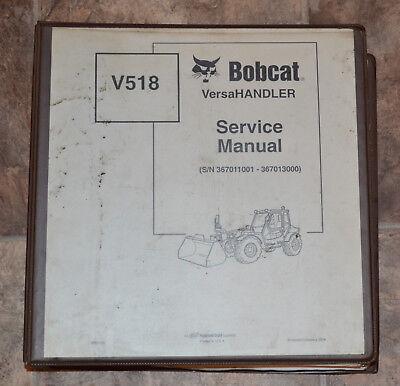 Bobcat Service Repair Manual V518 Versahandler 6901769