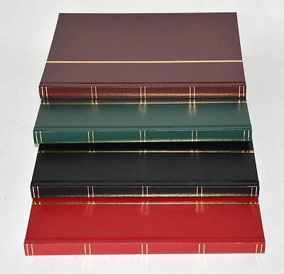32 schwarze Seiten A4 Briefmarkenalbum, Einsteckbuch, mit Klarsichtstreifen