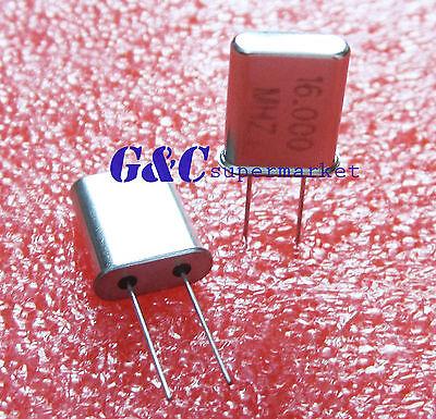 10pcs 16 Mhz 16.000 Mhz Crystal Oscillator Hc-49u New C3