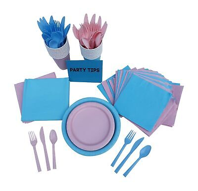 Gender Reveal Party Supplies Pink and Blue 211 Items Bundle - Gender Reveal Party Items