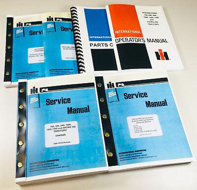 International Hydro 186 Tractor Service Parts Operators Manual Shop Ovhl Set