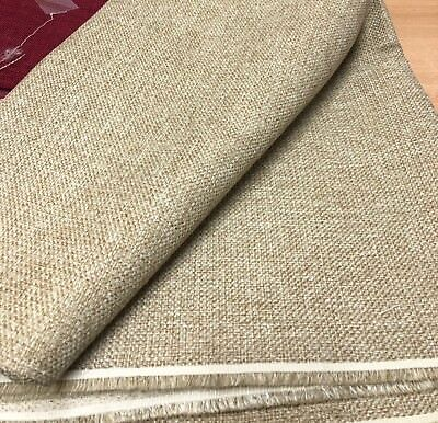 LAURA ASHLEY STRAW BEIGE UPHOLSTERY FABRIC 1.9 METRES.