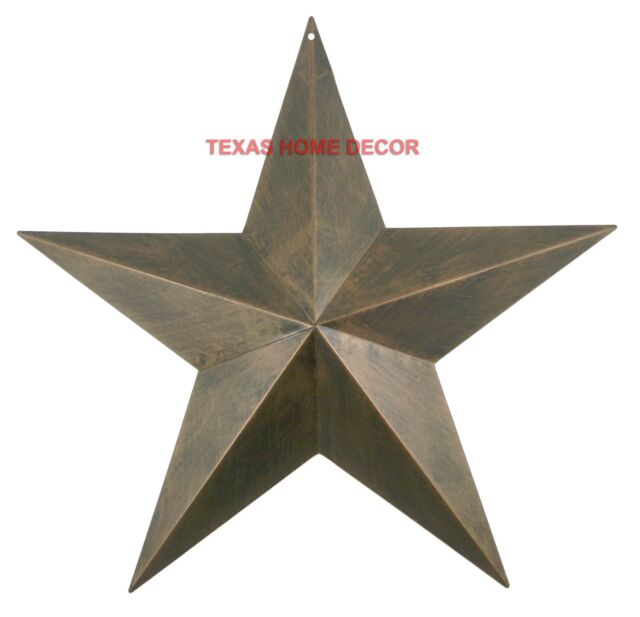 "Texas Star Wall Decor 17"" metal barn star rustic copper texas tin primitive western wall"
