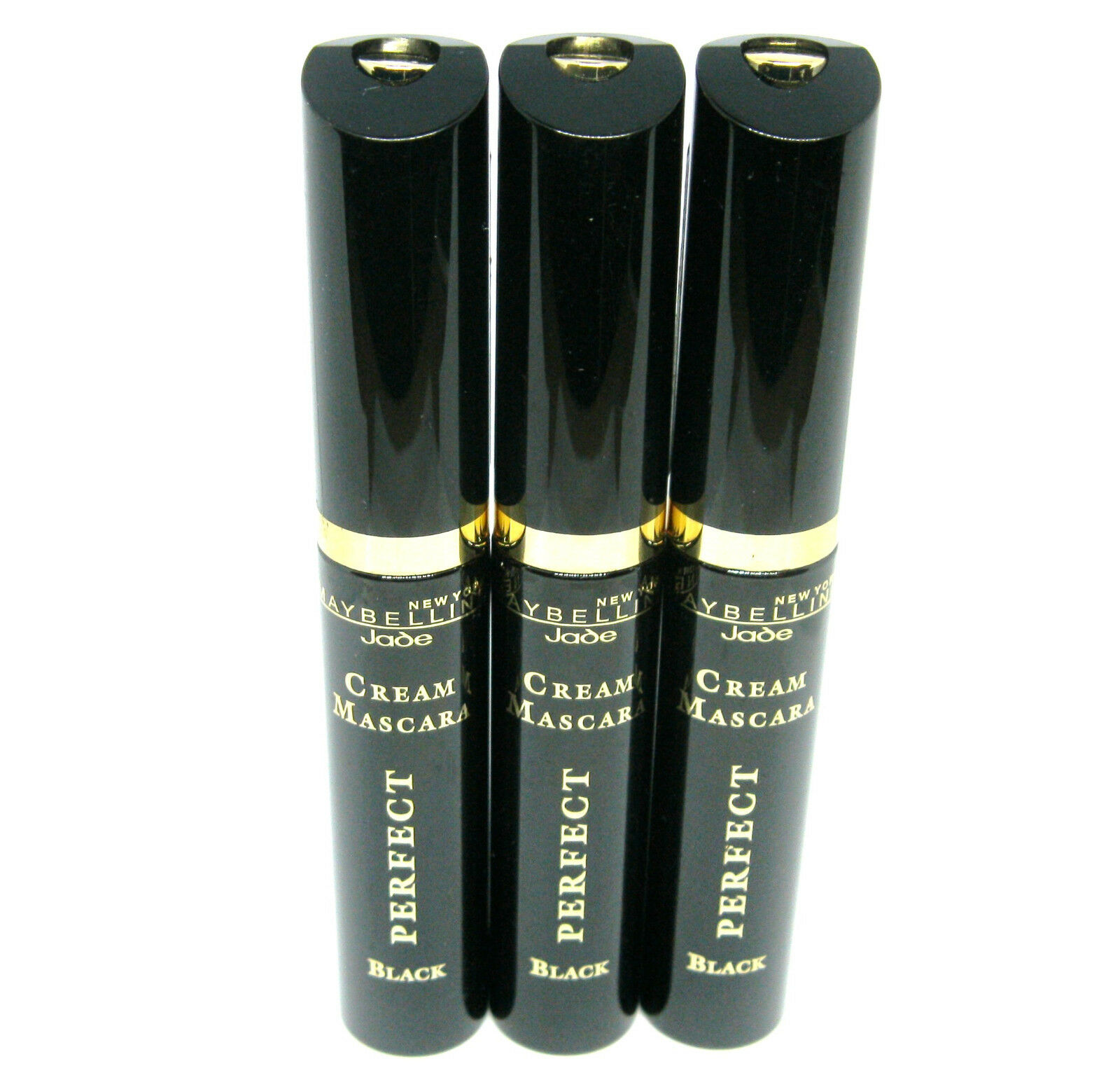 3 x MAYBELLINE CREAM MASCARA PERFECT BLACK / schwarz