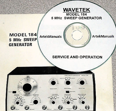 Wavetek 184 5mhz Sweep Genrator Operating Service Manual Wschematics