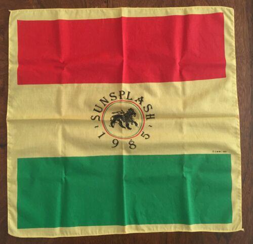 Reggae Sunsplash cloth poster 1985 Red Yellow Green Rasta Lion