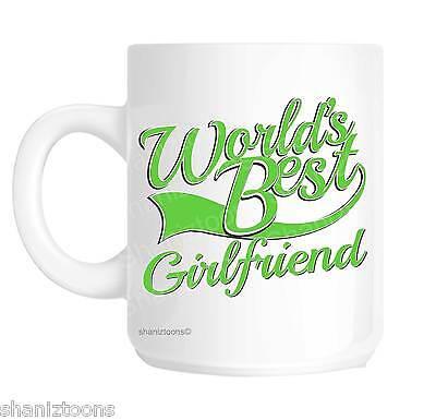 Girlfriend World's Best Green Novelty Gift Mug (World's Best Girlfriend Mug)