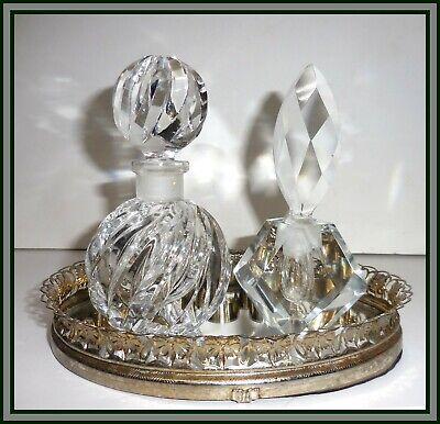 Glass Antique Crystal Perfume Bottles Vatican