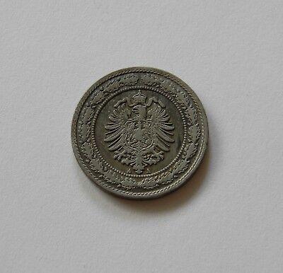 KAISERREICH: 20 Pfennig 1887 A, J. 6, sehr schön, II.
