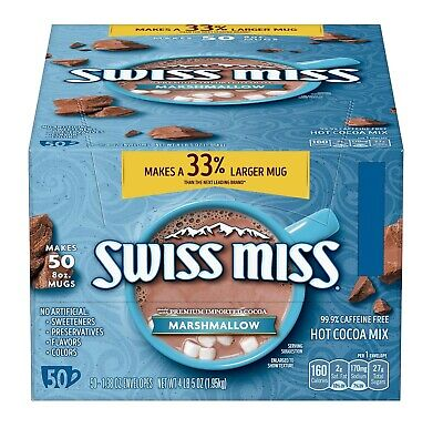 Swiss Miss Marshmallow Hot Cocoa Mix - 50 ct