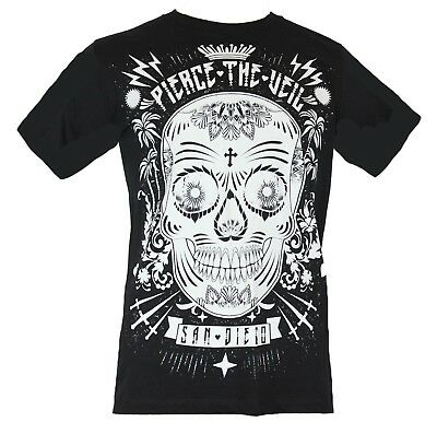 Pierce the Veil Mens T-Shirt - San Diego Sugar Skull Image