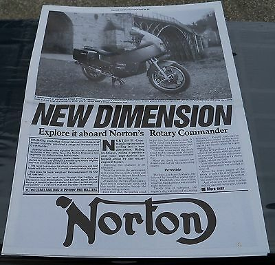 Papers36 - Norton Rotary Promotional Literature - A2 Size - 1989